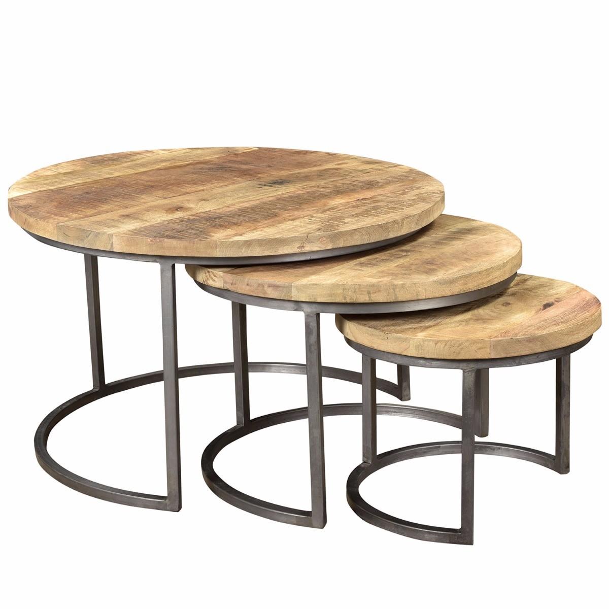 Tafel - Salontafels - S3 mango coffee table  77x77x47 cm